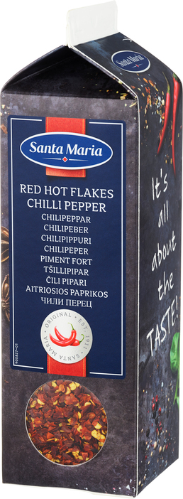 Krydd chili flögur red hot 295 gr